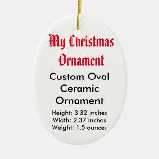 My Christmas Custom Ceramic Flat Ornament (Oval)