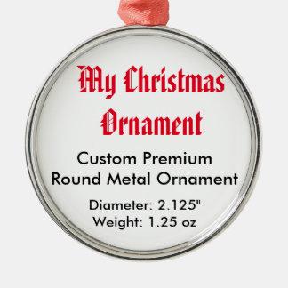 My Christmas Custom Premium Round Metal Ornament