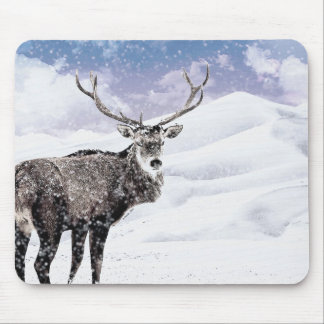 My Christmas Winter Stag! Mouse Pad