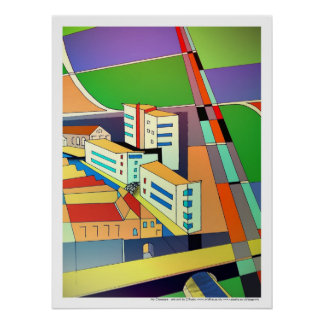 My Cityscape print poster art