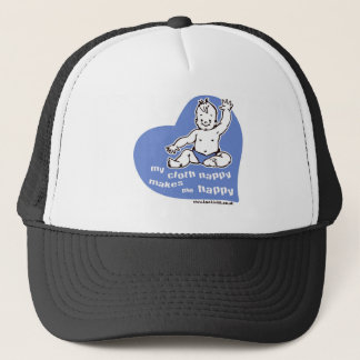 My cloth nappy makes me happy trucker hat