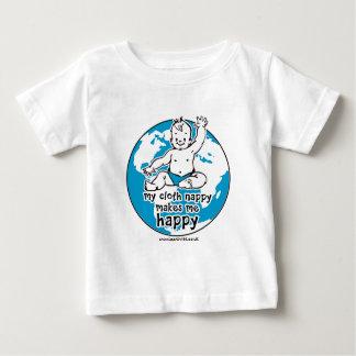 My cloth nappy makes me happy t-shirts
