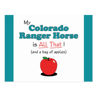 My Colorado Ranger Horse is All That! Funny Horse Postcard