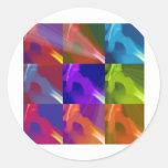 My colored hip sticker