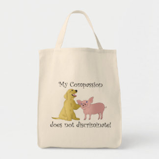 My compassion does not discriminate! vegan bag