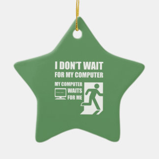 My computer waits for me ornament