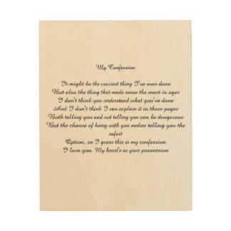My Confession Wood Print