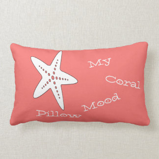 My Coral Mood Starfish Throw Pillow