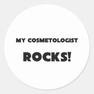 MY Cosmetologist ROCKS Round Stickers