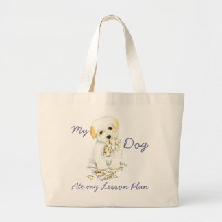 My Coton Ate My Lesson Plan Large Tote Bag