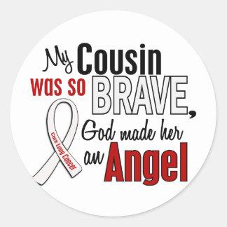 My Cousin Is An Angel Lung Cancer Round Sticker