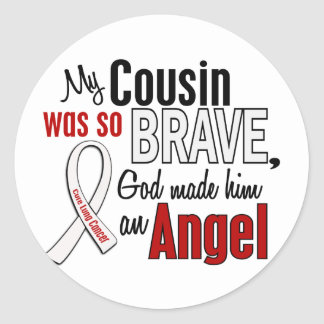 My Cousin Is An Angel Lung Cancer Classic Round Sticker