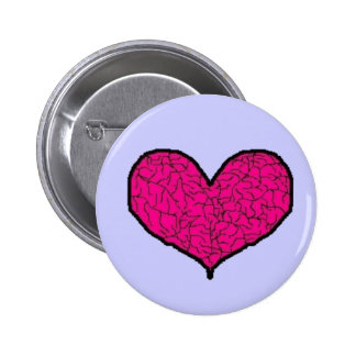 My cracked and broken heart 6 cm round badge