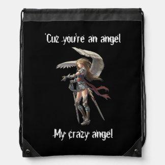 My crazy angel ♥ drawstring bag