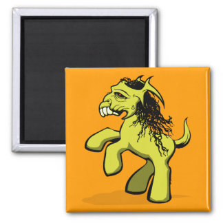 My Creepy Little Pony (Yellow) Refrigerator Magnets