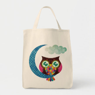 My Crescent Owl Grocery Tote Bag