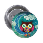 My Crescent Owl Pinback Button