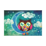 My Crescent Owl Wrapped Canvas Canvas Prints