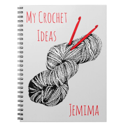 My crochet ideas personalised notebook