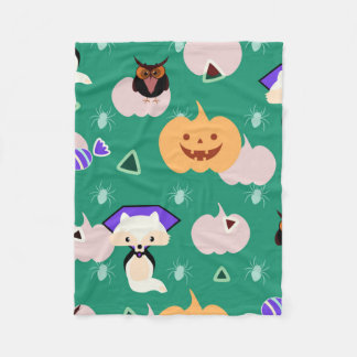 My cute Halloween Fleece Blanket