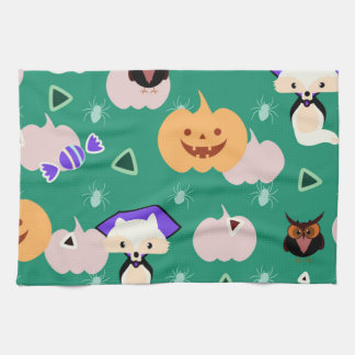 My cute Halloween Tea Towel
