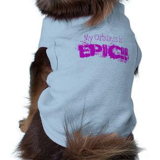 """My Cuteness is EPIC!!"" Dog TeeShirt, T-Shirt Sleeveless Dog Shirt"