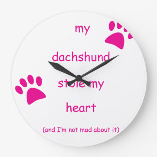 My Dachshund Stole My Heart Large Clock