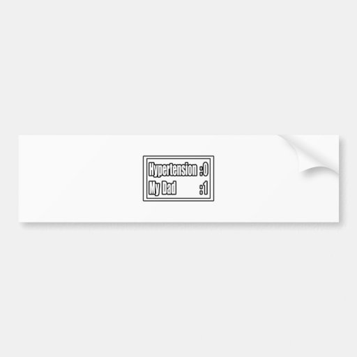 My Dad Beat Hypertension (Scoreboard) Bumper Sticker