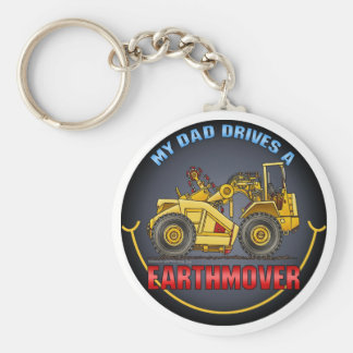 My Dad Drives An Earthmover Scraper Key Chain