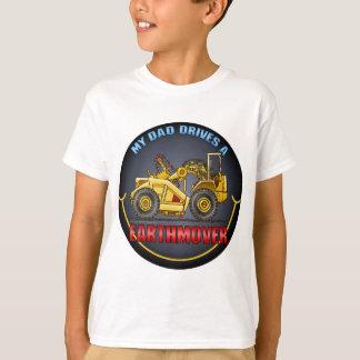 My Dad Drives An Earthmover Scraper Kids T-Shirt
