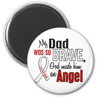 My Dad Is An Angel Lung Cancer 6 Cm Round Magnet