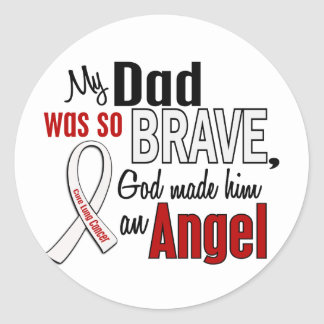 My Dad Is An Angel Lung Cancer Round Stickers