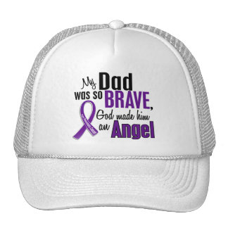 My Dad Is An Angel Pancreatic Cancer Trucker Hats