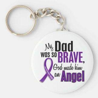 My Dad Is An Angel Pancreatic Cancer Basic Round Button Key Ring