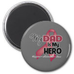 My Dad is My Hero - Multiple Myeloma 6 Cm Round Magnet