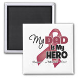 My Dad is My Hero - Multiple Myeloma Square Magnet