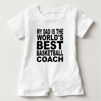 My Dad Is The World's Best Basketball Coach Baby Bodysuit