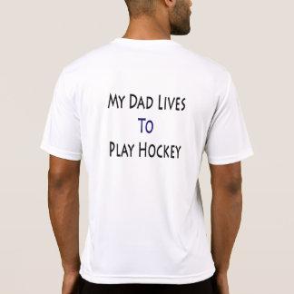 My Dad Lives To Play Hockey Shirts