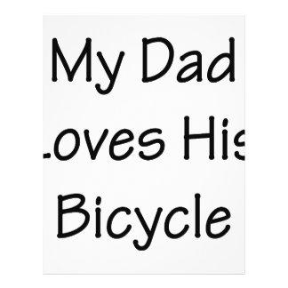 My Dad Loves His Bicycle Custom Flyer