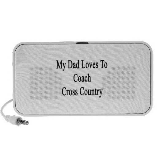 My Dad Loves To Coach Cross Country Notebook Speakers