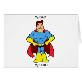 My Dad My Hero SuperHero Card