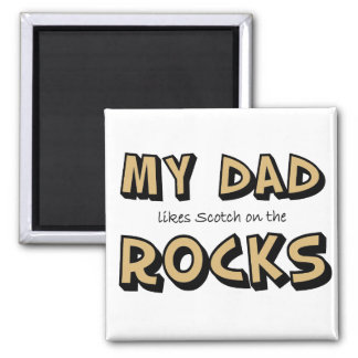 My Dad Rocks Square Magnet