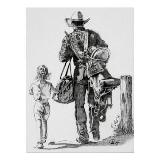 My Dad´s a Cowboy Print