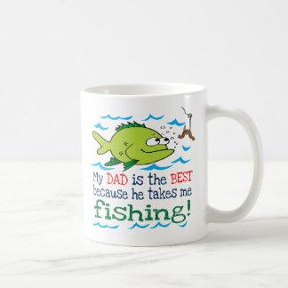 My Dad Takes Me Fishing Mugs