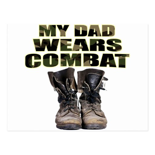 My Dad Wears Combat Boots Postcards