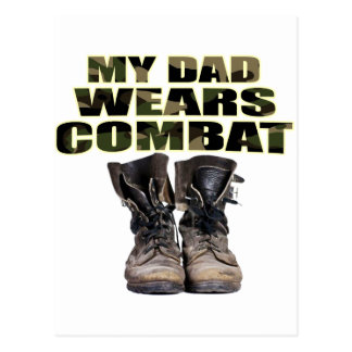 My Dad Wears Combat Boots Post Card