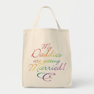 My Daddies Are Getting Married Grocery Tote Bag