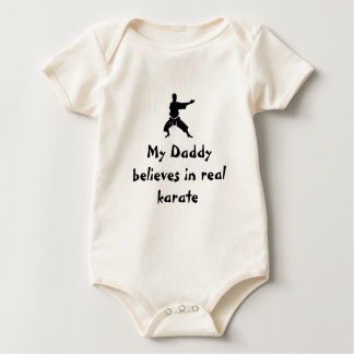 My Daddy believes in real karate Baby Bodysuit