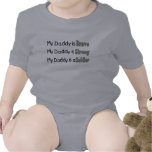My daddy Brave Strong soldier Kids Font Tshirts