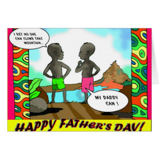 my daddy can greeting card